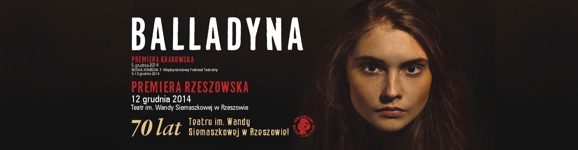 """Fotorelacja z premiery """"Balladyny"""" w Krakowie!"""