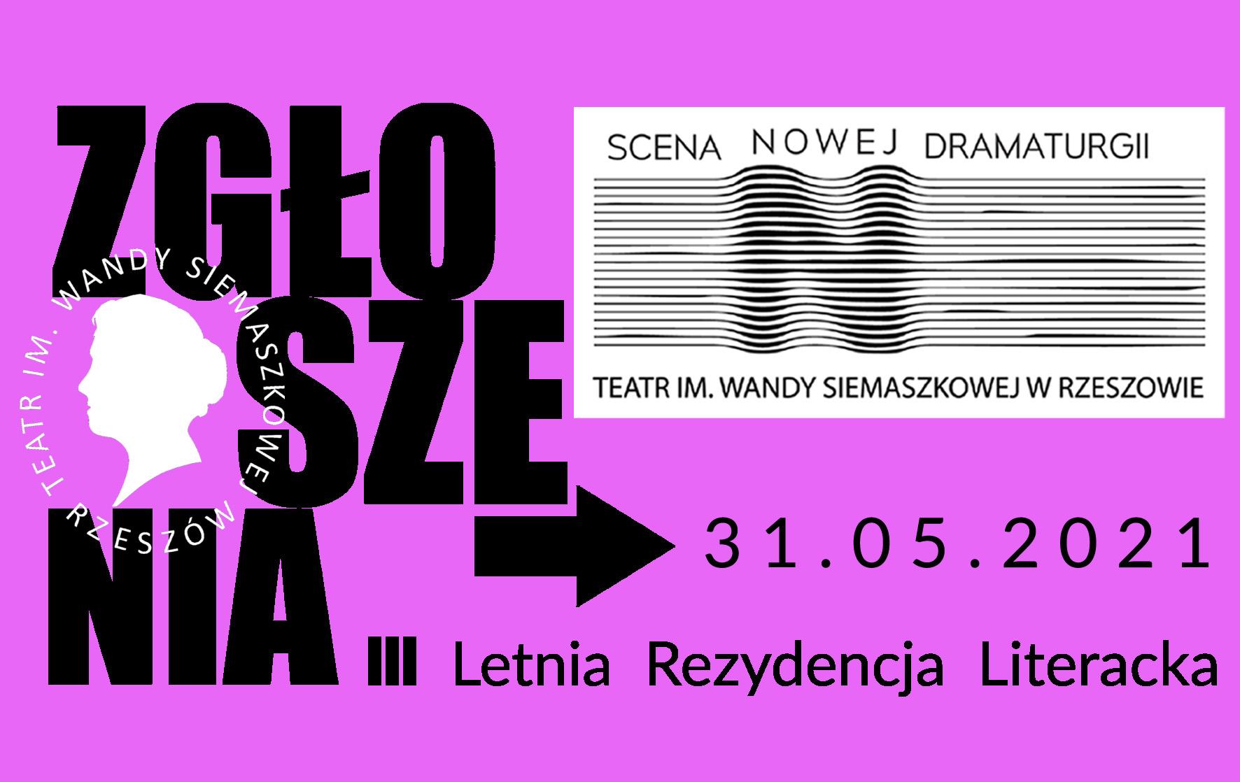 FORMULARZ ZGŁOSZENIOWY/ III Letnia rezydencja Literacka